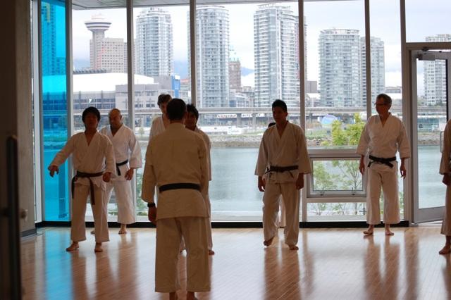 Karate practice Vancouver Creekside Dojo - standing